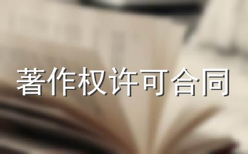 著作权许可使用协议(一)